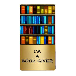 Soy etiquetas del libro del donante de un pegatina etiqueta de envío