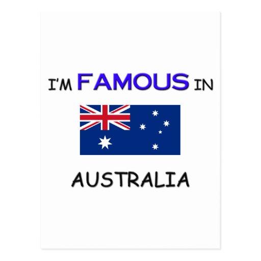 Soy famoso en AUSTRALIA Tarjetas Postales