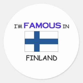 Soy famoso en FINLANDIA Etiquetas Redondas