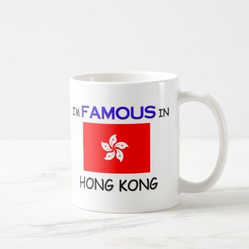 Soy famoso en HONG KONG Taza Básica Blanca