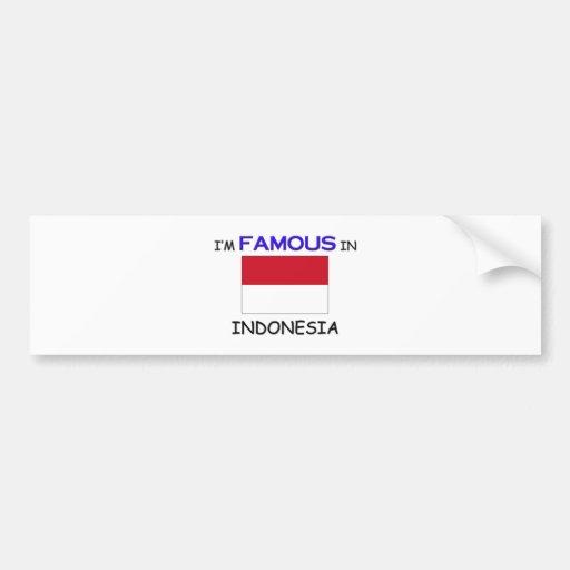 Soy famoso en INDONESIA Pegatina De Parachoque
