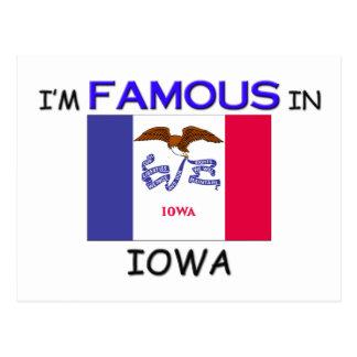 Soy famoso en IOWA Tarjeta Postal