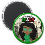 Soy famoso en la diva de Italia - oscuridad Imán De Frigorífico