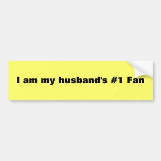 Soy fan del #1 de mi marido pegatina de parachoque