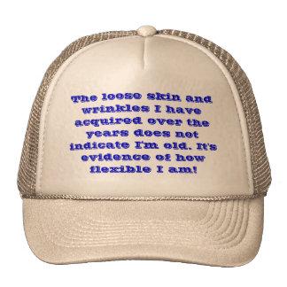Soy flexible, no viejo gorros bordados