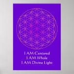 SOY flor del poster de la meditación de la vida