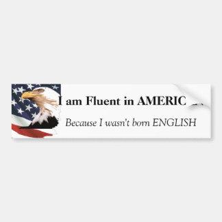 Soy fluido en bandera americana pegatina para auto