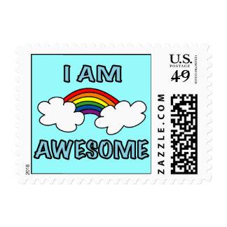"""""""Soy"""" franqueo impresionante del arco iris"""
