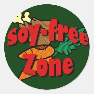 Soy-Free Zone Classic Round Sticker