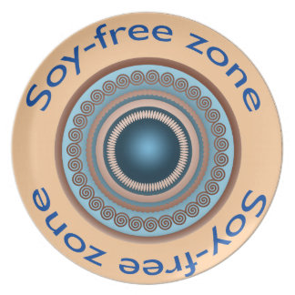 Soy-Free Zone Dinner Plate