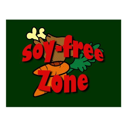 Soy-Free Zone Postcard