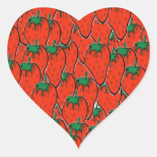 soy fresa sticker heart large plain
