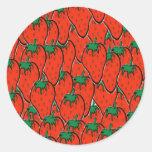 soy fresa sticker round plain large