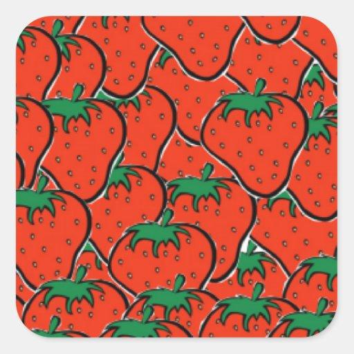 soy fresa sticker square plain