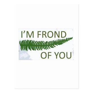 """""""Soy fronda de usted"""" diseño de la hoja del helech Postales"""