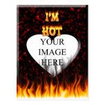 Soy fuego y llamas calientes tarjetas postales