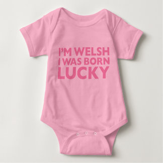 Soy Galés que era Babygro rosado afortunado nacido Mameluco De Bebé