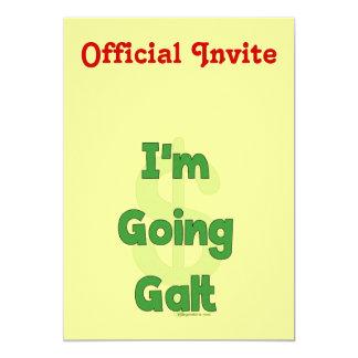 """Soy Galt que va Invitación 5"""" X 7"""""""