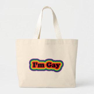 Soy gay bolsa tela grande