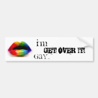 ¡Soy gay… consigo sobre él! pegatina para el parac Pegatina Para Auto