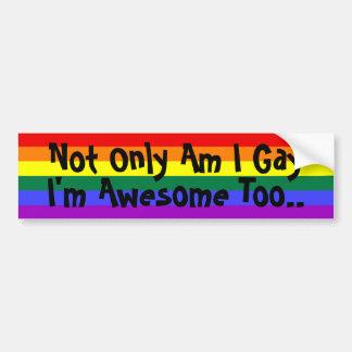 Soy gay e impresionante pegatina de parachoque