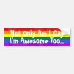Soy gay e impresionante etiqueta de parachoque