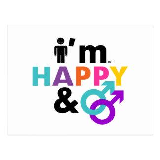 Soy gay feliz y LGBT aceptable Tarjeta Postal