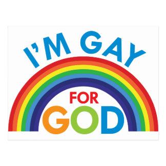 Soy gay para dios tarjetas postales
