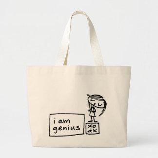 soy genio bolsa tela grande