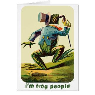 Soy gente de la rana retra tarjeta de felicitación