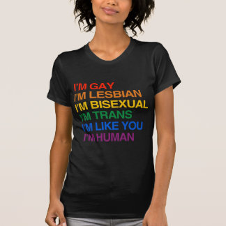 Soy GLBT que soy HUMANO T-shirt