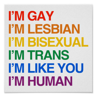 Soy GLBT que soy HUMANO Póster