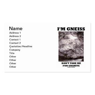 Soy gneis no me tomo para el granito (el humor de tarjetas de visita