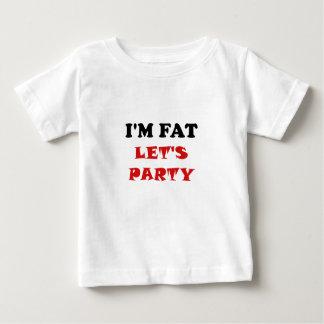 Soy gordo nos dejé ir de fiesta playera de bebé
