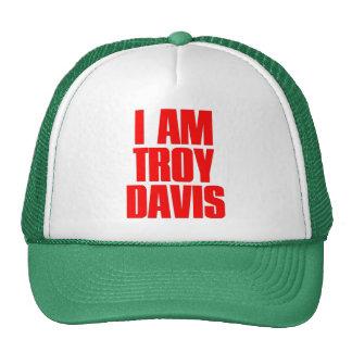SOY gorra del camionero de la malla de TROY DAVIS