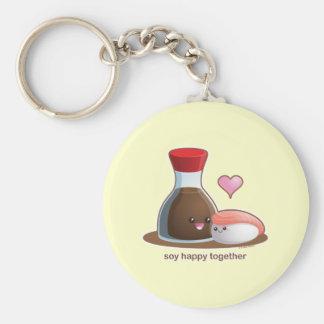 Soy Happy Keychain