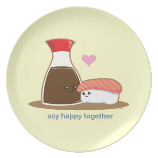 Soy Happy Together Melamine Plate