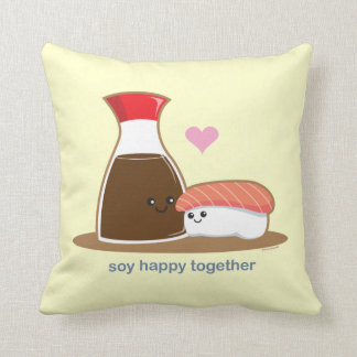 Soy Happy Together Throw Pillows