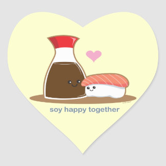 Soy Happy Together Heart Sticker