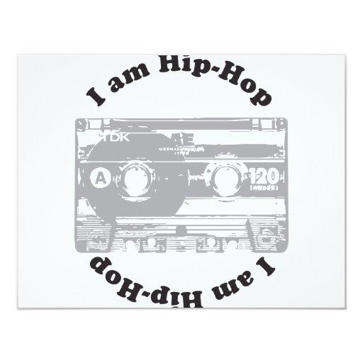 """Soy hip-hop invitación 4.25"""" x 5.5"""""""