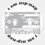 Soy hip-hop pegatina redonda