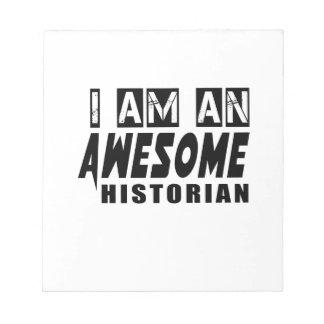 Soy HISTORIADOR impresionante Blocs De Notas