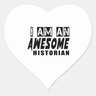 Soy HISTORIADOR impresionante Pegatina En Forma De Corazón