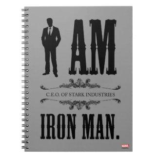 Soy hombre del hierro libro de apuntes con espiral