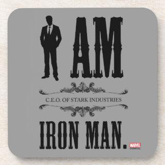 Soy hombre del hierro posavasos de bebidas