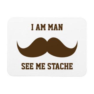 Soy hombre me veo bigote del bigote del stach dive imán foto rectangular