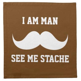 Soy hombre me veo bigote del bigote del stach dive servilleta