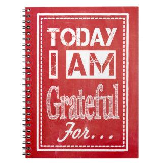 """""""Soy hoy agradecido para…"""" Diario de la gratitud Libros De Apuntes Con Espiral"""