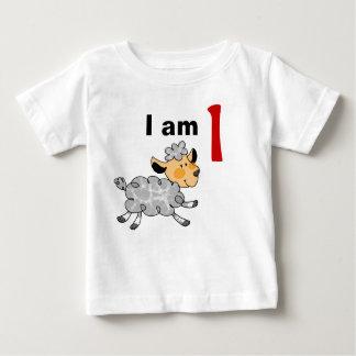 Soy hoy de 1 año (el pequeño cordero lindo) remera