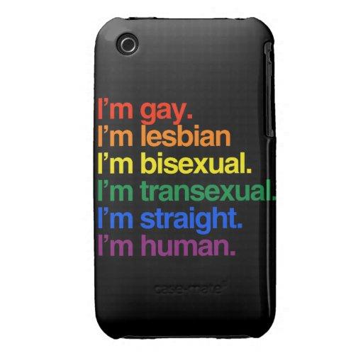 Soy humano apenas como usted iPhone 3 carcasas